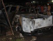Ôtô và xe máy ở Phú Quốc cháy rụi kinh hoàng khi tông nhau
